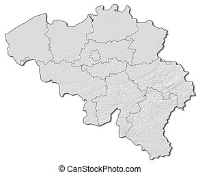 Map - Belgium - 3D-Rendering