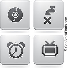 Misc Internet Icons - Miscellaneous everyday icons: CD-ROM,...