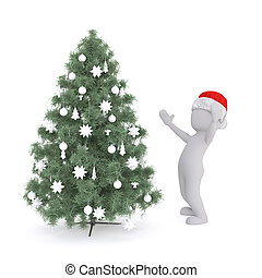marvel at the christmas tree as a 3d model