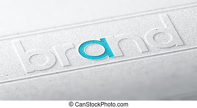 Brand Name, Company Identity - 3D illustration of the word...