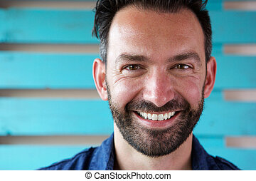 Handsome mature man smiling