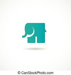 Vector Elephant - Vector illustration of an Elephant