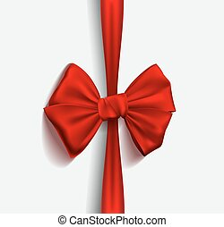 Realistic Ribbon red bow