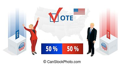 Us Election 2016 infographic Democrat Republican convention...
