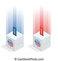 Us Election 2016 infographic. Ballot Box for an election....