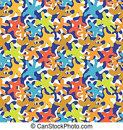 Boy clothing seamless background - Bright Camouflage...