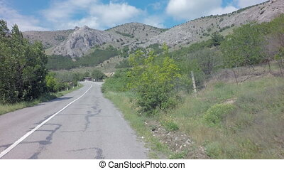 Autotravel Summer south of Crimea Beautiful serpentine...