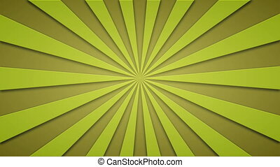 Footage animated background of yellow rotating beams....