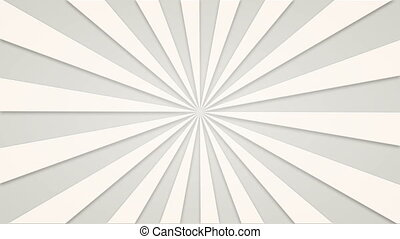 Footage animated background of white rotating beams....