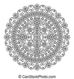 contour, Mandala. ethnic, religious - Mandala. ethnic,...