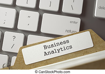File Card with Inscription Business Analytics. 3D. -...