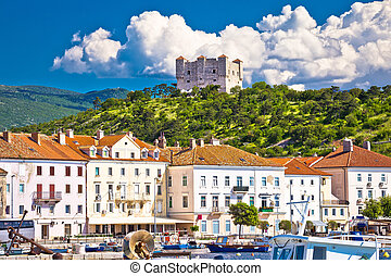 Town of Senj and Nehaj fortress view, Primorje, Croatia
