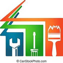 Home repairs tool symbol - Home repairs and construction of...