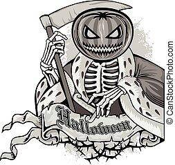 halloween pumpkin - halloween holiday pumpkin,poster,banner