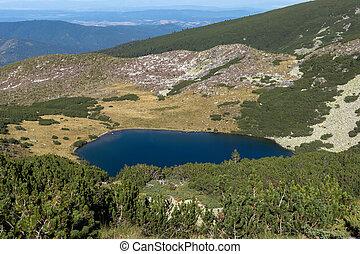 Yonchevo lake, Rila Mountain - Panoramic view of Yonchevo...