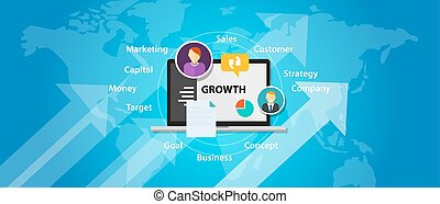 growth business company marketing sales concept increase...