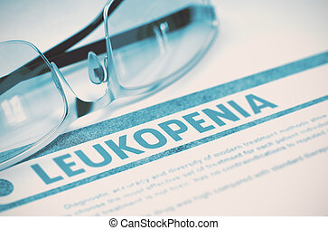 Leukopenia. Medicine. 3D Illustration. - Leukopenia -...