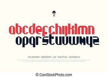 handbook - set of stylish alphabet letters isolated on white...