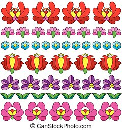 Seamless Hungarian folk art pattern - Vector background -...