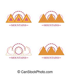 abstract simple mountain logo icons set