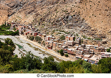 Berber village in the mountains, Morocco
