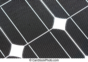 solar panal - a black and white  solar panel for a home