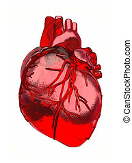 In the form of heart.