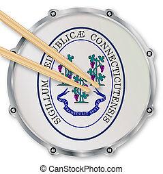 Connecticut Snare Drum - Connecticut state seal snare drum...