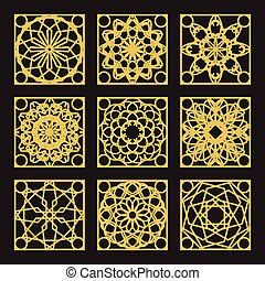 Vector Geometric Pattern - Patterns set with luxury arabic...
