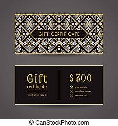 Vintage Gift Certificate - Vintage ornamental gift...