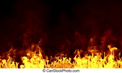 3d - realistic fire - background - 3d render of realistic...