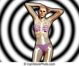X Ray Women - An x ray image of a women in a pose