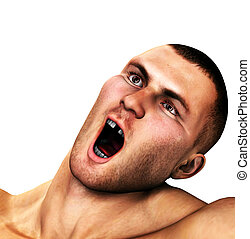 Punched Out  - A strong man who has been knocked out.