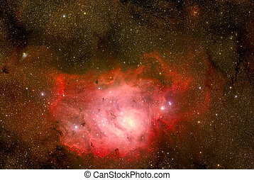 Sagitario, localizado, nebulosa, constelación, laguna