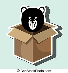 box bear toy