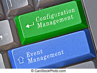 Keyboard with keys for configuration and event management