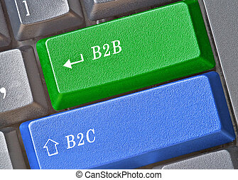 keyboard with key for E-Business