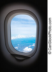 view window of airplane