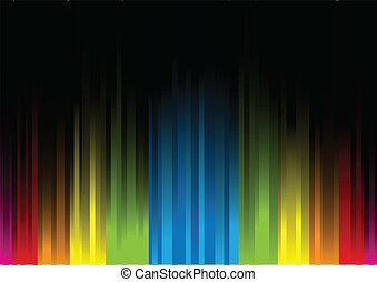 Iridescent light on a black background