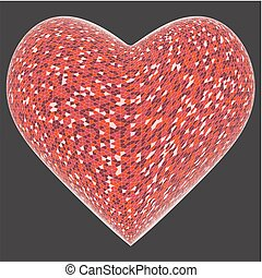 Bright Colorful Heart Vector ...