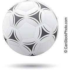 Soccer ball - Classic soccer ball isolated on the white...