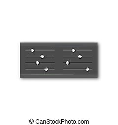 Graphic equalizer with a set of sliders, vector...
