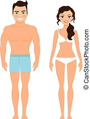 Healthy young man and woman