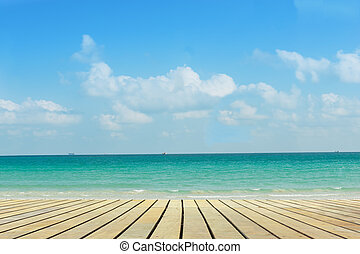 Wind and sunlight with  beautiful beach.