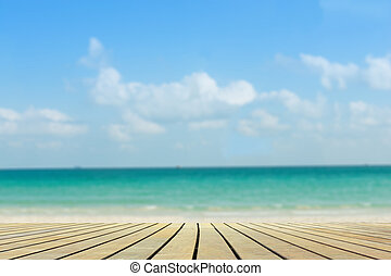 Wind and sunlight with  beautiful beach.,Blur background.