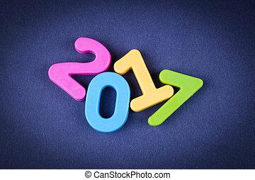 nuevo,  2017, feliz, Plano de fondo, año