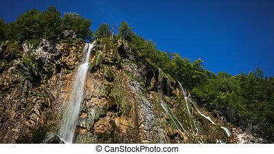 Plitvice National Park, Croatia - the Big Waterfall, - Grand...