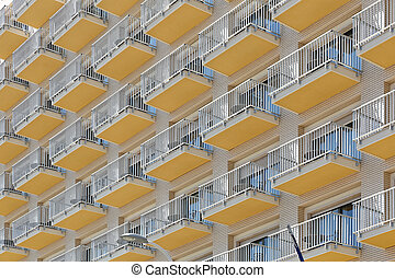Balconies at Hotel Building Architecture