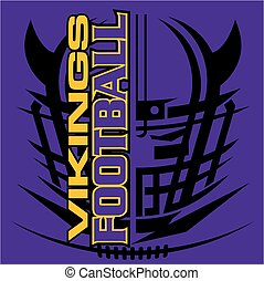 vikings football - tribal vikings football team design with...