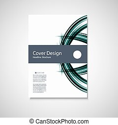 Abstract color line element Wave brochure design for your...